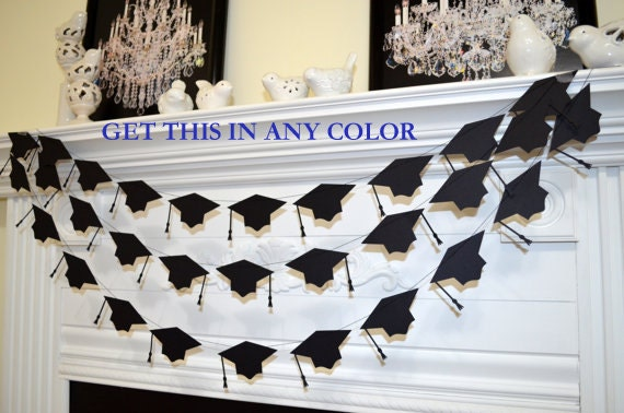 Graduation Cap garland graduation cake table by ...