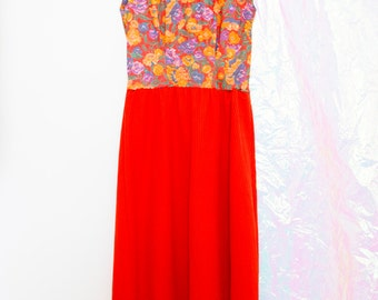 Vintage Handmade Floral Midi Dress
