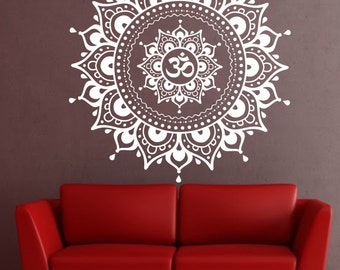 Mandala Wall Decal mandala decal Yoga Om Namaste Yoga decor Wall Vinyl Decal lotus Interior Home Decor meditation mandala wall art wall