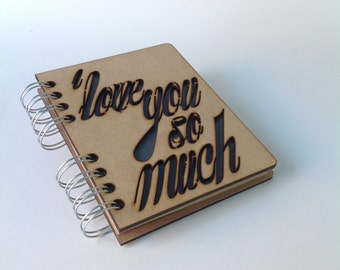 A6 recycled notebook Love you so much