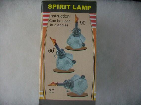 Alcohol Spirit Lamp Burner 4oz Faceted Sides Adjustable