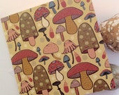 Toadstool Greetings Card ~ Blank Shroom Illustration Card, Notecard.