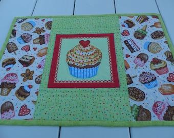 Cupcake Place Mat, Girls Place Mat