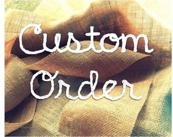 Custom Burlap Pillow