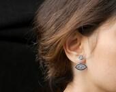 Silver Double Sided Silver Ear Cuff Earring,Fashion Rose Gold Silver Earring Turkish Handmade Jewelry