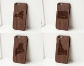 Wood iphone case - real wood case, wooden iphone case, walnut iphone case, iphone 5, iphone 6, iphone 6 plus - Custom State Home