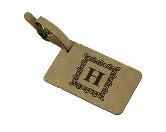 Personalized Leather Luggage Tag, Custom Leather Luggage Tag, Momogram Luggage Tag, Luggage Tag Personalized [SIM-006]
