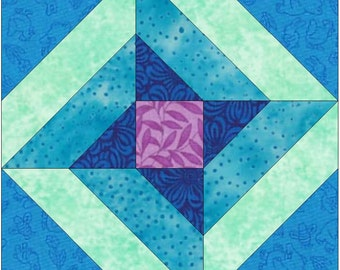 Celtic Strip Star Paper Piece Templates Quilting Block Pattern