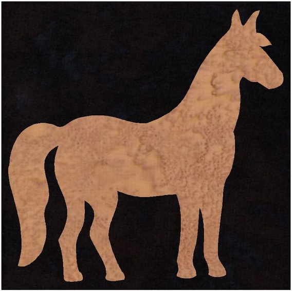 Horse Pony Silhouette Quilt Applique Pattern Design
