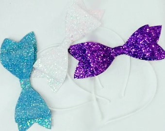 Glitter bow headband, Alice band