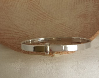 Adjustable 925 Sterling Silver Bangle Bracelet - EB275