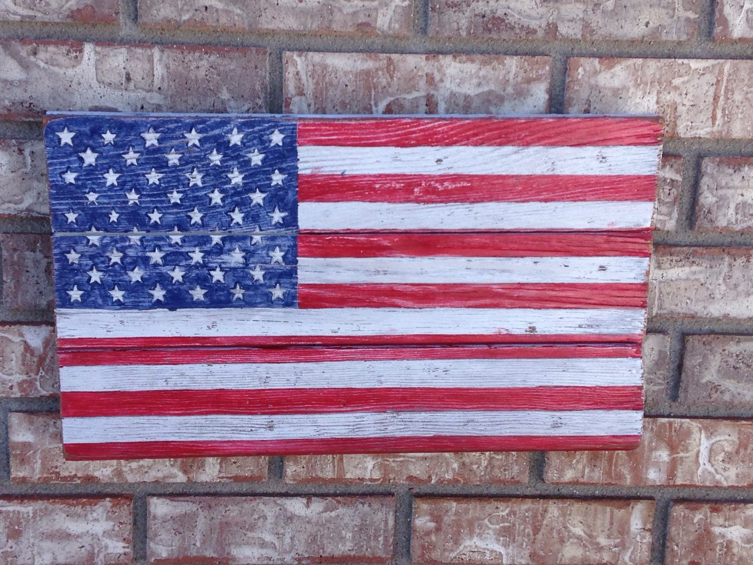 American flag wall art reclaimed recycled pallet wood hand - American flag pallet art ...