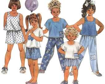 Simplicity Sewing Pattern 8315 Child's Pants, Shorts, Tops  Size:  AA  2-4  Used