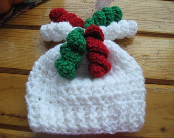 Christmas Curly Cue Pigtail Hat - Crochet Pigtail Hat - Winter Hat