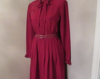 Vintage Louis Feraud Burgandy Dress
