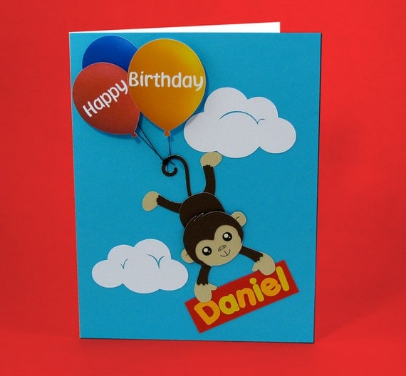 Personalized pop up Birthday card for kids handmade birthday – Personalized Kids Birthday Cards