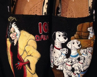 Custom Handpainted Shoes - 101 Dalmatians
