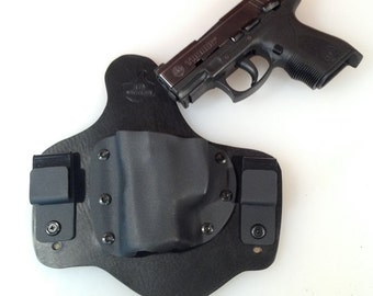 IWB Hybrid Leather & Kydex Holster for Taurus PT24/7 pro compact CDS