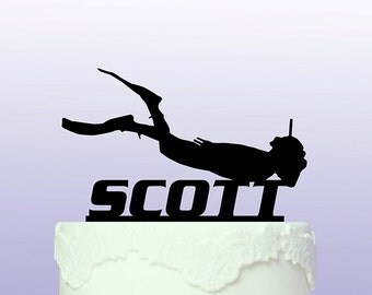 Personalised Scuba Diving Cake Topper