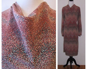 Vintage 1960s Abe Schrader Abstract Shift Dress