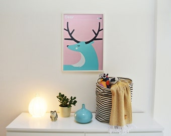 DEER | screen print poster | limited of 40
