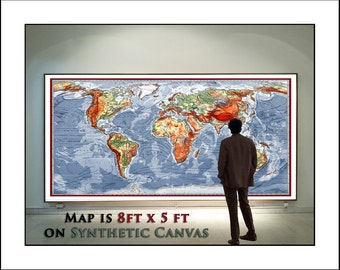 World map map of the world world map poster large world huge world map detailed map of the world up to 8feet x 5feet wall sciox Images