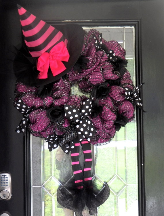Wicked Witch Halloween Decorations Wicked Witch Halloween Wreath