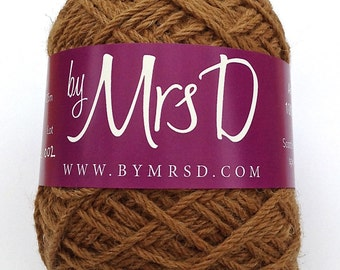 Alpaca Yarn Aran (Caramel) - Luxury Scottish Knitting Yarn (Worsted Weight Alpaca Yarn)