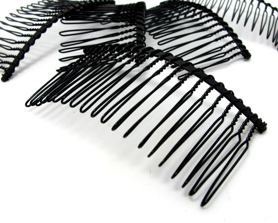 10 pieces 20 teeth black hair comb wire comb hair comb for Metal hair combs for crafts