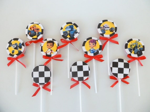 10 blaze and the monster machines inspired lollipops by fluidyard