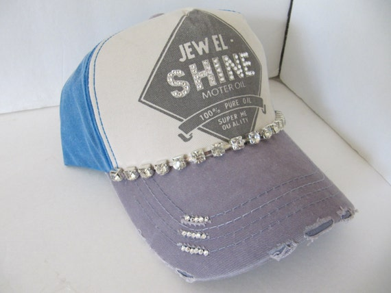 Hattrucker Hat Jewel Shine Oil Hat Womens Hat Sworovski