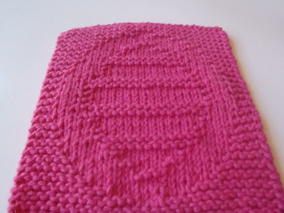 Knitted Dishcloth Patterns For Easter : Easter Egg Knit Easter Dishcloth Pink Easter Washcloth by AMailys