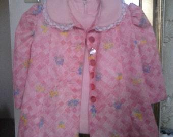Vintage little girl dress hand made