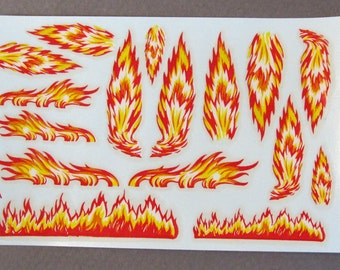 1950's Impko HOT ROD FLAMES decals for model kits  mint in package