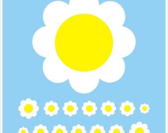Flower/Daisy Nail Decal