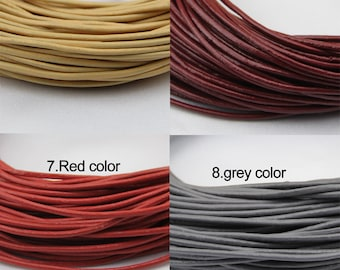 2mm leather cord,genuine leather string cord,original leather color,wine red,red,grey,yellow ,1yard,2yard,5yard,10yard,round leather cord