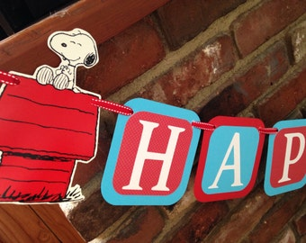 Snoopy birthday banner