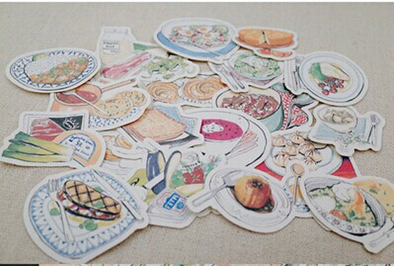 Items similar to scrapbook sticker filofax stickers for Scrapbooking cuisine