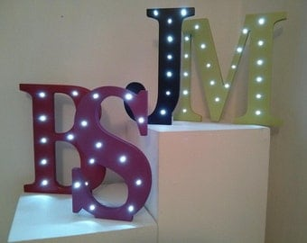 Large Letter with Lights - colour & letter of choice - weddings, births, birthdays, unique gift!