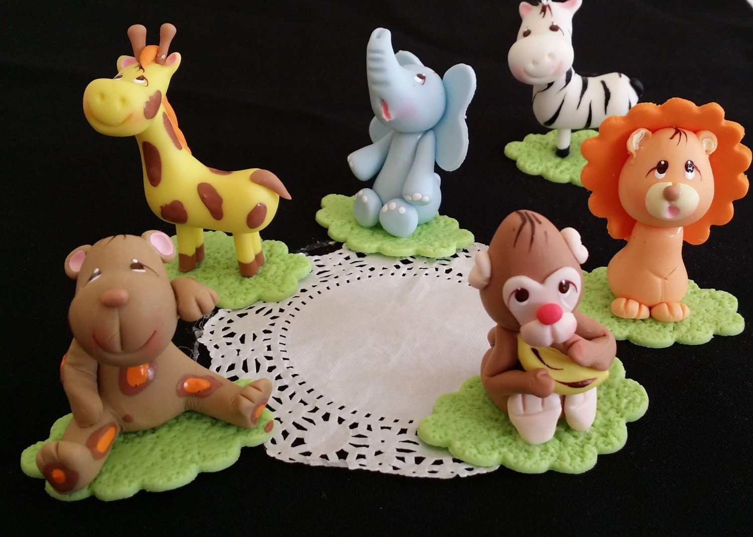 Jungle cake topper safari cake topper jungle by for Animal cake decoration