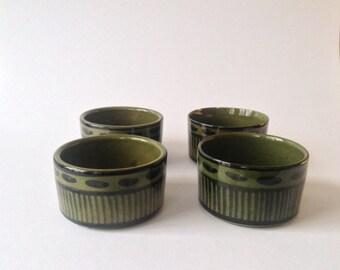 Four Danish vintage ceramic bowls