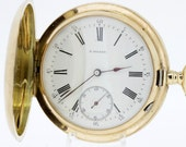 Paul Moser 14K Gold Pocket Watch