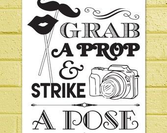 Grab a Prop and Strike a Pose - Printable