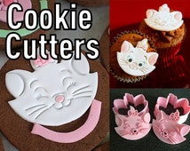 Aristocats Marie Cookie Cutters / Disney Pull-Press Stamps for Perfect Stencils to Trace / Cuts Sandwiches Fondant Dough and More!