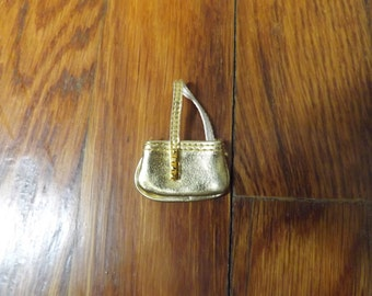 Barbie, Barbie Doll Accessories, Barbie Clothes, Doll Clothes, Barbie Purse,  Barbie Doll Clothes, Gold Bag, Metallic, Free Shipping
