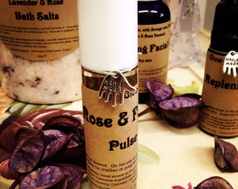 Rose and Frankincense pulse-point perfume oil - roller ball.