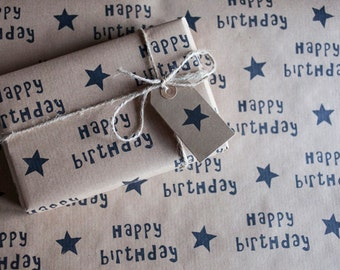Happy Birthday Wrapping Paper: Including 1 Piece Gift Wrap, 2 x Gift Tags & Twine