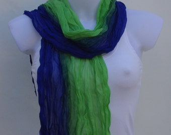 Blue Green Scarf Scarves For Women Unique Scarves Fashion Scarves Winter Spring Scarves Womens Scarves Shawl Scarf Mother Daughter Scarves