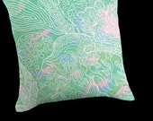 Accent Pillow Cover - New SEA GLASS Chandelier Coordinates