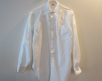Vintage Saks Fifth Avenue Shirt - Custom Made - Cotton- Size Possibly Large